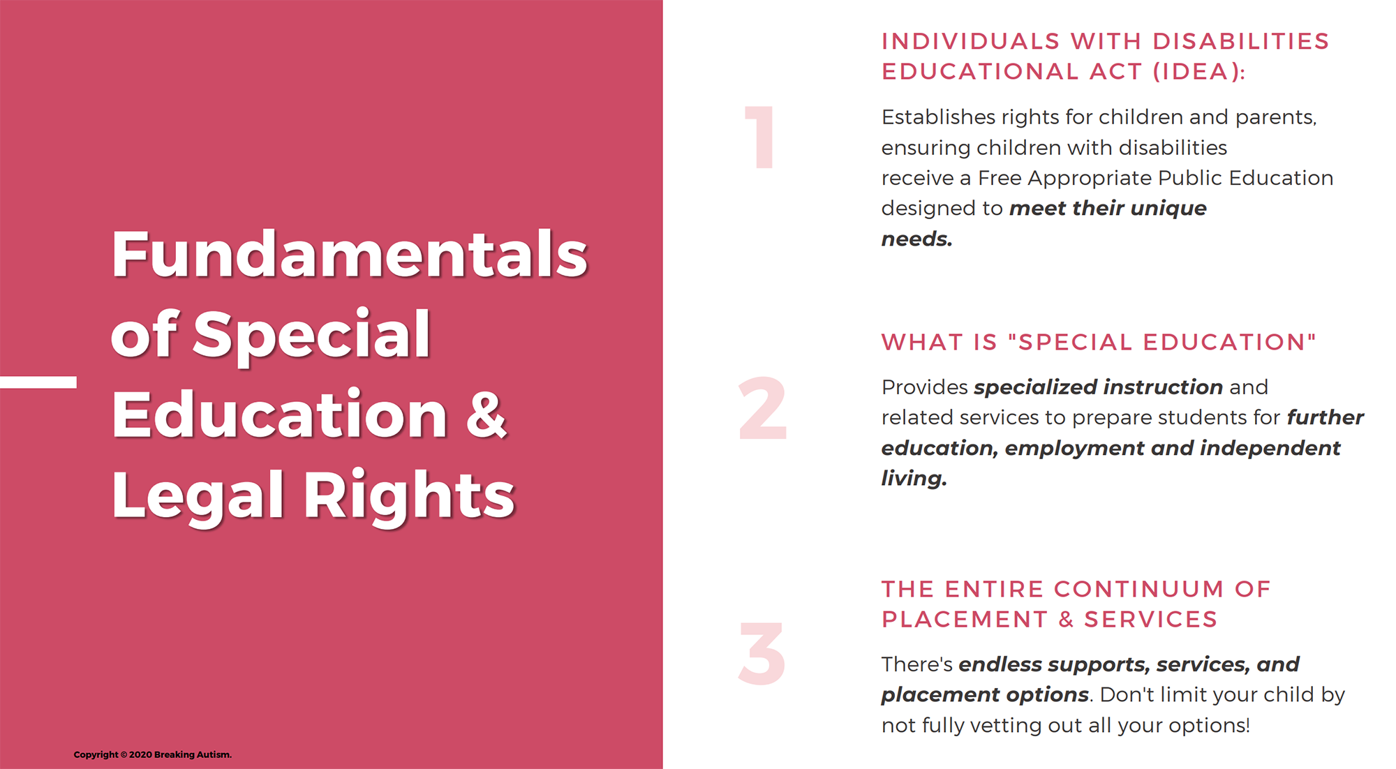 Fundamentals of Special Education and Legal Rights